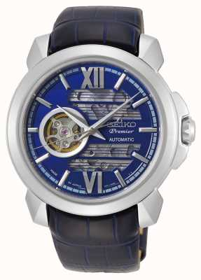 Seiko | Premier Automatic | Mens | Blue Skeleton Dial | SSA399J1