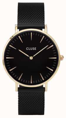 CLUSE | La Bohème | Black Mesh Bracelet | Gold Tone Case | CW0101201008