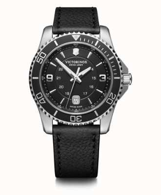 Victorinox Swiss Army | Maverick | Mens | Black Dial | Black Leather Strap | 241862