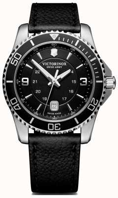 Victorinox Swiss Army | Maverick | Mens | Black Dial | Black Leather Strap | 241862