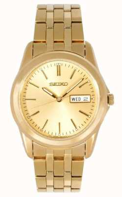 Seiko Mens Gold Tone Bracelet Watch SGGA48P1