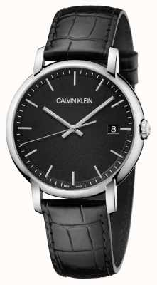 Calvin Klein | Mens | Established | Black Leather Strap | Black Dial | K9H211C1