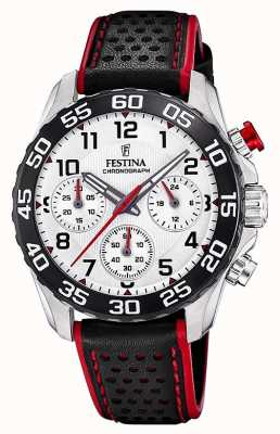 Festina | Mens/Junior's Black Leather Strap | Silver Dial | F20458/1