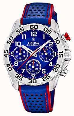 Festina | Mens/Junior's Blue Leather Strap | Blue Dial | F20458/2