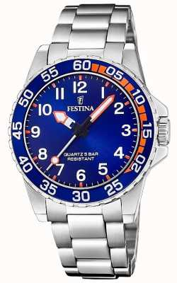 Festina | Mens/Junior's Stainless Steel Bracelet | Blue Dial | F20459/2