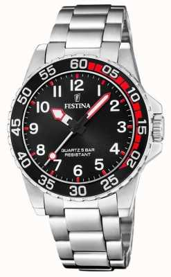 Festina | Womens/Junior's Stainless Steel Bracelet | Black Dial | F20459/3