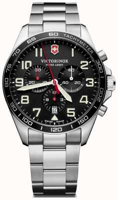 Victorinox Swiss Army | Mens Fieldforce | Chronograph | Black Stainless Steel | 241855