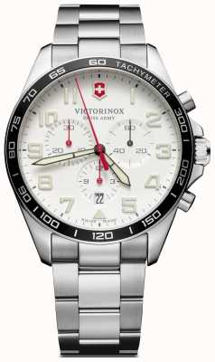 Victorinox Swiss Army | Mens Fieldforce | Chronograph | White Stainless Steel | 241856