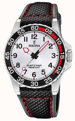 Festina | Mens/Junior's Black Leather | Silver Dial | F20460/1