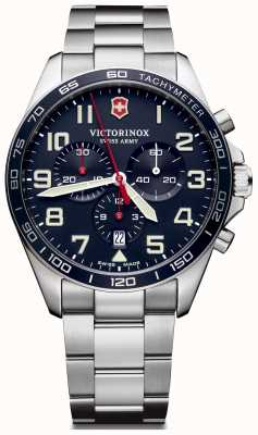 Victorinox Swiss Army | Mens Fieldforce | Chronograph | Blue Stainless Steel | 241857