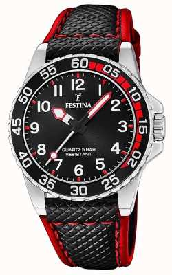 Festina | Mens/Junior's Black Leather | Black Dial | F20460/3