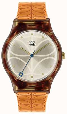 Orla Kiely | Womens | Tortoiseshell Case | Orange Stem Print Strap | OK2308