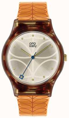 Orla Kiely | Women's | Tortoiseshell Case | Orange Stem Print Strap | OK2308