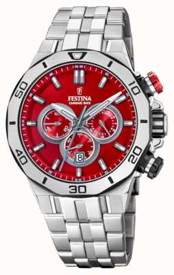 Festina Tour Of Britain 2019 | Stainless Steel | Red Dial | F20448/B