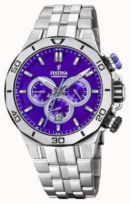 Festina Tour Of Britain 2019 | Stainless Steel  | Purple Dial | F20448/D