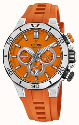Festina Tour Of Britain 2019 | Orange Silicone Strap | Orange Dial | F20449/C