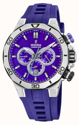 Festina Tour Of Britain 2019 | Purple Silicone Strap | Purple Dial | F20449/D