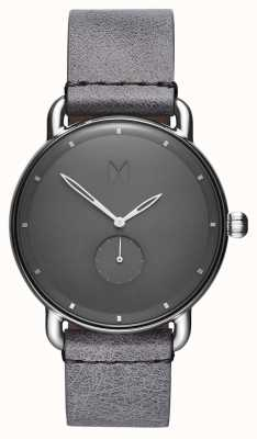 MVMT Revolver Gotham | Grey Leather Strap | Grey Dial D-MR01-SGR