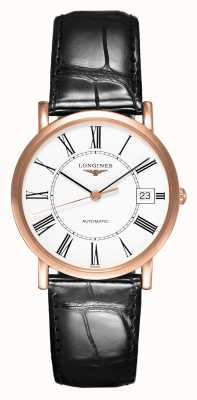 Longines Elegant Collection 18ct Rose Gold | Men's 34mm | Automatic L47788110