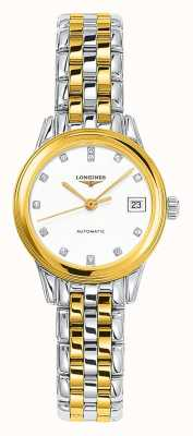 Longines | Flagship | Women's 26mm Two Tone | Swiss Automatic L42743277