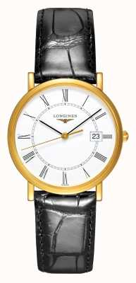 Longines Présence | 18ct Yellow Gold | Men's 34mm | Leather Strap L47776110