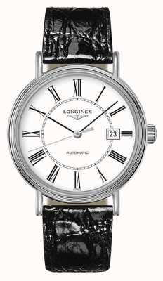 Longines Présence | Swiss Automatic | Black Leather | White Dial L49224112