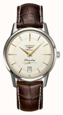 Longines Flagship Héritage Men's Brown Leather Cream Dial L47954782