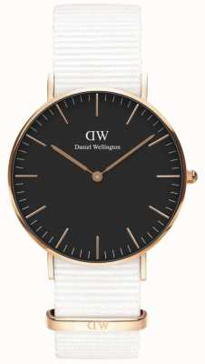 Daniel Wellington Classic 36mm Dover | Rose Gold Case | Black Dial | DW00100310