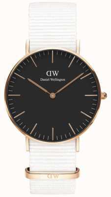 Daniel Wellington Classic 36mm Dover | Rose Gold Case | Black Dial | DW00100310