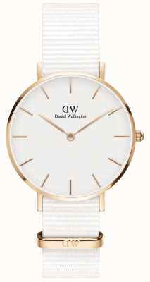 Daniel Wellington Womens Petite 32mm Dover | White Dial | White Strap | DW00100311