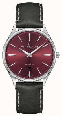 Hamilton Jazzmaster Thinline | Automatic | Red Dial | Grey Strap H38525771