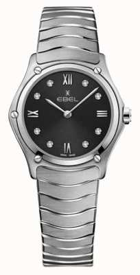 EBEL Womens Sport Classic | Grey Dial | Diamond Set | Stainless 1216416A