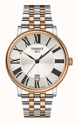 Tissot | Mens Carson | Silver Dial | Two-Tone Stainless Steel T1224102203300