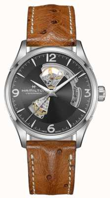 Hamilton |Jazzmaster Open Heart | Brown Leather Strap | H32705581