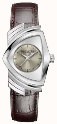 Hamilton | Ventura Automatic | Brown Leather Strap | Silver Dial | H24515581