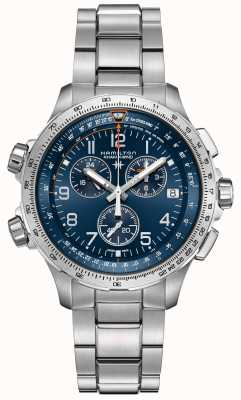 Hamilton | Khaki Aviation X-Wind GMT | Blue Dial | Stainless Steel H77922141