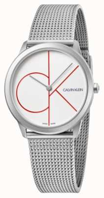 Calvin Klein | Minimal | Stainless Steel Mesh Bracelet | Silver Dial | K3M52152