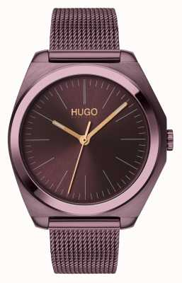 HUGO #Imagine | Aubergine IP Mesh | Aubergine Dial 1540027