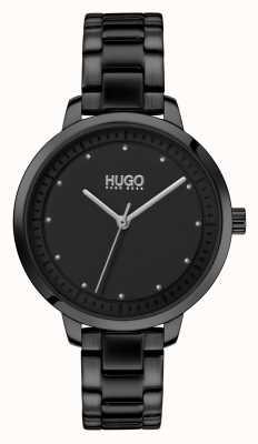 HUGO #ACHIEVE | Black IP Bracelet | Black Dial 1540038