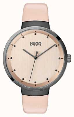 HUGO #Go | Pink Leather Strap | Rose Gold Dial 1540001