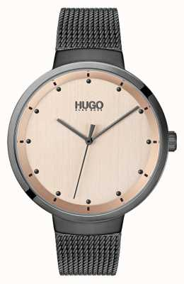 HUGO #Go | Grey IP Mesh | Rose Gold Dial 1540003