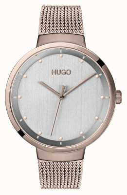 HUGO #GO | Rose Gold IP Mesh | Grey Dial 1540004
