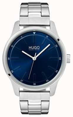 HUGO #dare | Stainless Steel Bracelet | Blue Dial 1530020