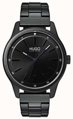 HUGO #dare | Black IP Bracelet | Black Dial 1530040