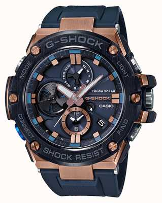 Casio G-Steel Bluetooth Triple Connect Mens Chronograph Rose Gold GST-B100G-2AER