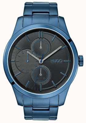 HUGO #discover | Blue IP Bracelet | Black Dial | 1530086