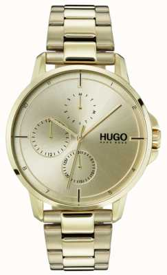 HUGO #FOCUS | Gold IP Bracelet | Gold Dial 1530026