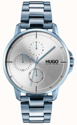 HUGO #focus | Blue IP Bracelet | Silver Dial 1530051