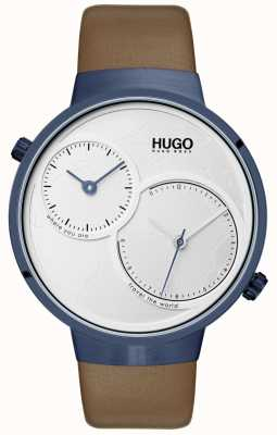 HUGO #travel | Brown Leather Strap | White Dial 1530054
