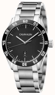 Calvin Klein | Men's | Compete | Stainless Steel Bracelet | Black Dial | K9R31C41